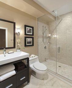 Small bathroom ideas for apartments apartment bathroom decor super tiny bathroom ideas bathroom interior small apartment . Warm Bathroom, Modern Bathroom Tile, Bathroom Interior, Master Bathroom, Beige Bathroom, Bathroom Colors, Natural Bathroom, Shower Bathroom, Modern Bathrooms