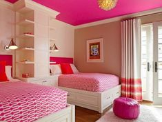 Here are some interesting girls bedroom decor ideas. Get some amazing ideas for your princess room, have a look at some of these lovely girls bedroom decor. Teenage Girl Bedrooms, Girls Bedroom, Pink Bedrooms, Childs Bedroom, Triplets Bedroom, Home Bedroom, Bedroom Decor, Bedroom Ideas, Bedroom Designs