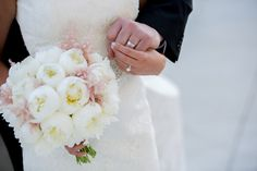 Love this photo! those 2 hands and that ring are why floral designers do what they do.and the bouquet shares the stage. Bridal Bouquet Pink, Red Poppies, Blush Pink, Wedding Events, Florals, Wedding Flowers, Floral Design, Stage, Designers