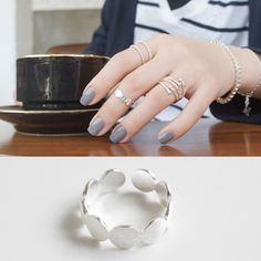 925 sterling silver round joint opening rings for women anel feminino bijoux cute bague argent 925 ring anelli donna jewellery