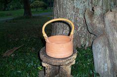 Pottery Vessel Bent Handle Signed Handmade by AntiquesandVaria