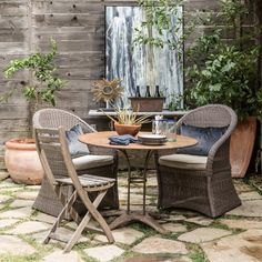 40 Chic Ideas for Patios and Porches on a Budget | HGTV Apartment Deck, Outdoor Patio Designs, Patio Ideas, Backyard Ideas, Porch Ideas, Outdoor Dining, Outdoor Decor, Outdoor Art, Outdoor Rooms