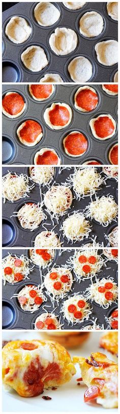 Deep Dish Pizza Bites #recipe #appetizer #pizza