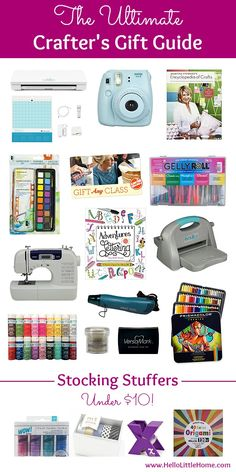The Ultimate Crafter's Gift Guide - - The Ultimate Crafter's Gift Guide! Know someone who loves crafting? This carefully curated gift guide is full of craft tools and supplies that they'll love! Fun Craft, Crafts For Kids, Preschool Crafts, Christmas Gift Guide, Christmas Holidays, Scrapbook Supplies, Scrapbook Organization, Planner Supplies, Ideas