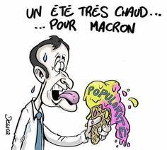 Delucq  (2017-08-04) France: Emmanuel Macron baisse de popularité