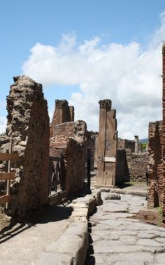 Ancient streets of Pompeii