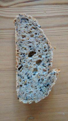 Rebanada de pan de semillas