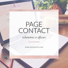 """Après avoir réalisée une étude de webdesign surla """"Page de contact"""" idéale, je dois dire que beaucoup de site web minimise son contenu, voir la laisse totalement """"brute de decroffrage"""", comme si c'était une page annexe, c'est bien dommage, car c'est bien au contraire une page à chouchouter.  Dans mon cas, j'ai personnellement revue ma page"""