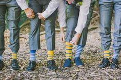 cute striped groomsmen socks for nice boys! Groomsmen Socks, Groomsmen Outfits, Groom And Groomsmen, Groom Attire, Geek Wedding, Wedding Groom, Wedding Men, Wedding Ideas, Dream Wedding
