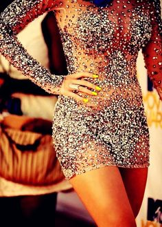 Jovani Nude Sequin Dress: Look amazing and sexy in the Jovani short dress This dress is covered in strategically placed sequins and beading. Glitter Dress, Sexy Dresses, Beautiful Dresses, Prom Dresses, Bling Dress, Gorgeous Dress, Rhinestone Dress, Glitter Bomb, Sequins