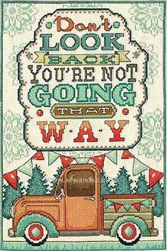 Buy Don't Look Back Cross Stitch Kit Online at www.sewandso.co.uk