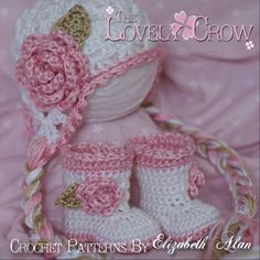 Crochet Patterns Sugar and Spice Set.  Includes ♥ by ebethalan