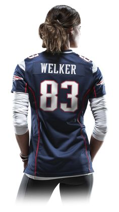 NFL New England Patriots (Wes Welker) Women's Football Home Game Jersey