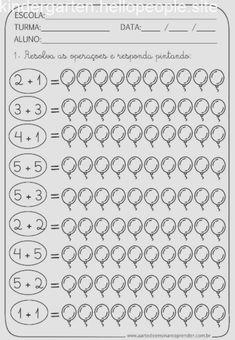 Top 40 Examples for Handmade Paper Events - Everything About Kindergarten Kindergarten Math Worksheets, Kindergarten Lessons, Preschool Learning, Teaching Math, Math Lessons, Math Activities, Math Literacy, Fun Math, Math For Kids