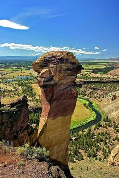 Smith Rock State Park, Crooked River, Oregon: