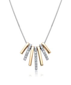 Love this Two-Tone Summit Necklace Made with SWAROVSKI ELEMENTS on #zulily! #zulilyfinds