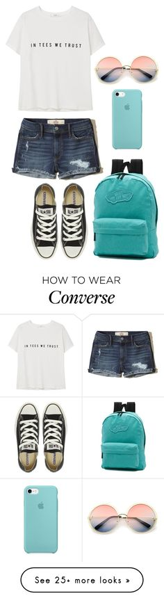 """Brian"" by anna-fozo on Polyvore featuring MANGO, Hollister Co., Converse, Vans and ZeroUV"