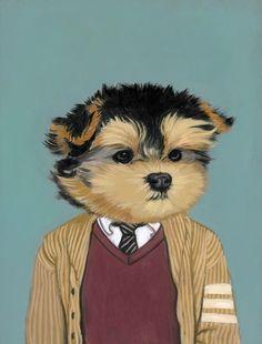 Dog print by Heather Mattoon #yorkie