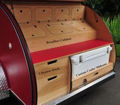 teardrop trailer galley designs | Photos of Galley Options | Teardrop Trailers - Oregon Showroom | Tear ...