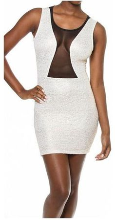 TEXTURED METALLIC MESH INSERT DRESS... Only $20 http://klassykodeboutique.bigcartel.com/