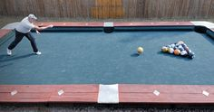 You Won't Believe this Life Size Backyard Pool Bowling TableGame Tables and More