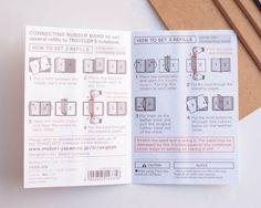 Midori Traveler's Notebook Passport Size: 011 Binding Bands