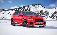 Nice Jaguar 2017: Jaguar F-Pace S, 2017, Schmidt, tuning F-Pace, red Jaguar, black wheels, red F-P...