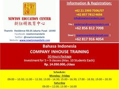 newtonmandarin.com: Latest News: Opening New Bahasa Indonesia Company ...