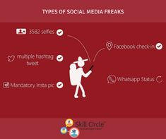 The Types of Social Media Freaks we all know :P Tag that person About this reality 😂 Social Media Marketing, Digital Marketing, Types Of Social Media, Startups, Insta Pic