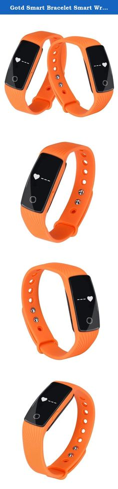 Gotd Smart Bracelet Smart Wristband Heart Rate Monitor Wristband Fitness Track (Orange). Anti-lost:When the smart phone is beyond the bluetooth range(no more than 5m),the device vibrates to remind. Remote camera control:Device key could control remote photograph shooting. HRM:Monitoring your heart rate effectively,and being reasonable to planning the movement. App OS:IOS7.1&above,Android4.4&above Main function:RTC,Heart rate monitor,Step pedometer,Calorie burnt,Distance track,Sleep...