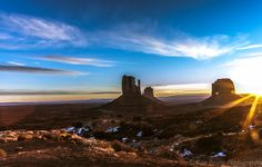 The Mittens and Merrick Butte Sunrise at Monument Valley Utah 3