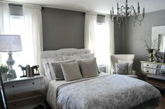 A guest bedroom makeover in grays by @Jennifer Crotty Holmes - Dear Lillie