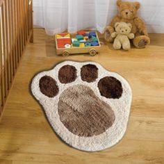 puppy paw rugs nursery - Google Search