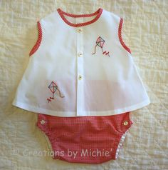 Diaper Shirt and Cover for Summer.  Creations by Michie' pattern #109