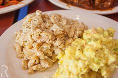 (Baltimore, Maryland) @thelandofkush Baked Mac and Cheese (Soy) and Potato Salad