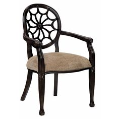 The elegant Charlotte Accent Chair is designed to complement a variety of decor's as well as provide supreme comfort. Visually appealing with a luxurious webbed back and French-inspired design, this chair commands attention with a sophisticated air.