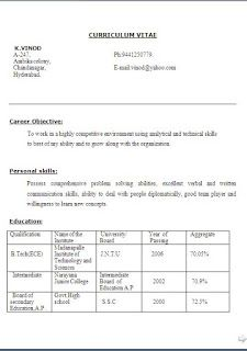 resume template of a computer science engineer fresher with great brefash fresher engineer cv format free