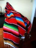 X-large Mexican Serape Blanket Red (82 By 62')