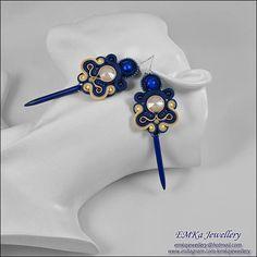 Handmade earrings soutache earrings soutache jewelry long