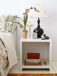 Choose from six looks for streamlined, personalized bedside tables to suit your personal style./