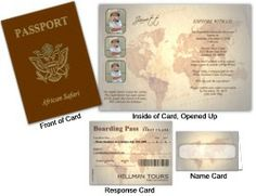 Custom Passport 2, Old World Globes Cards - Custom Passport 2, Old World Globes Cards designed just for you! We take your vision and put it on paper. Add you text, photos, destination stamps and even photos and maps to achieve that perfect passport card.