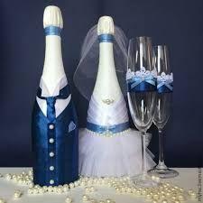 Resultado de imagem para garrafas enfeitadas noivinhos