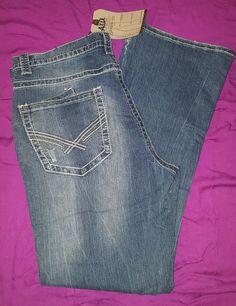New Men's Axel Brand Wolcott Vintage Boot Cut Dark Blue Denim #Jeans Pants #Axel #BootCut