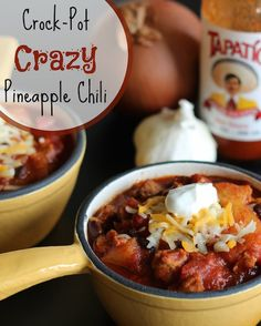 Contest-winning chili with an amazing flavor twist that people go crazy over! Quick and easy in the slow cooker! You've gotta try it! ~ www.TwoHealthyKitchens.com