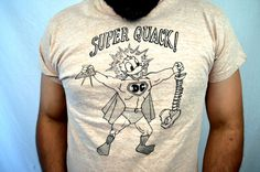 Vintage 1970s Donald Duck WEIRD Superhero SUPER by RogueRetro