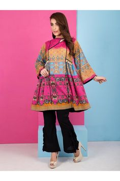 Katzo is a fashion company offering a fusion of eastern and Western Pret Pakistani Frocks, Simple Pakistani Dresses, Pakistani Fashion Casual, Pakistani Dress Design, Pakistani Culture, Pakistani Clothing, Pakistani Outfits, Stylish Dresses For Girls, Stylish Dress Designs