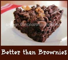 The Country Cook: Better than Brownies
