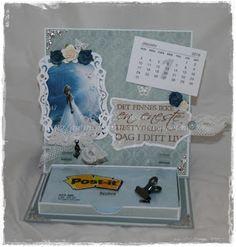 Gunns Papirpyssel: Kalender, calendar, staffeli kort, staffeli card, papirbretting, paperfolding, card, kort, scrapping, scrapbooking