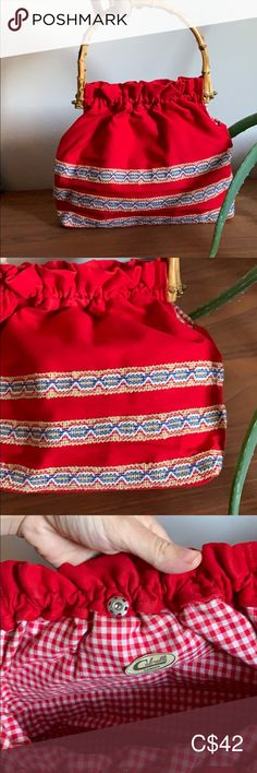 Wood Handle Vintage Boho Purse/Bag Bamboo wood handle vintage bag in amazing condition. Made in Canada. Fully lined, lining in immaculate condition. Vintage Bags, Vintage Ladies, Plus Fashion, Fashion Tips, Fashion Trends, Country Chic, Shoulder Bags, Bamboo, Budget
