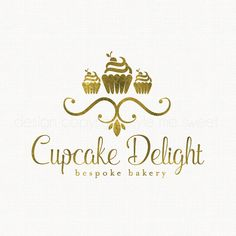cupcake logo design premade logo gold logo by stylemesweetdesign